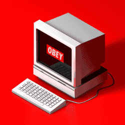 'OBEY in the 90's' – C4D Computer Render