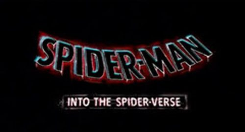 Spider-man Into the Spider Verse Title Treatment