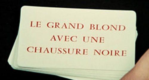 Le Grand Blond Avec Une Chaussure Noire Title Treatment