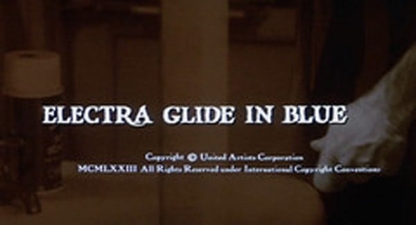 Electra Glide in Blue Title Treatment