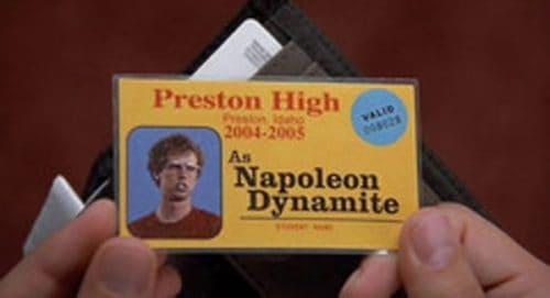 Napolean Dynamite Title Treatment