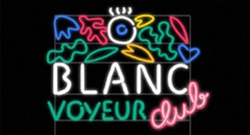 Blanc Voyeur Club Title Treatment