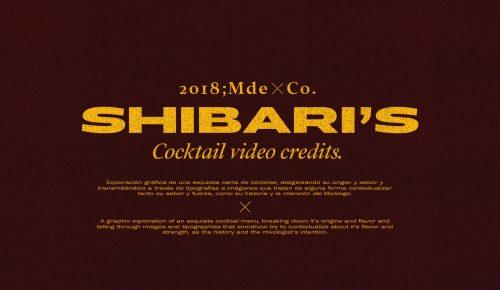 Shibari's cocktail video credits type treatment 015