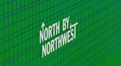 north by northwest Title Treatment