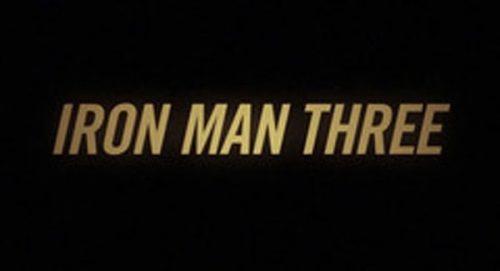 Iron Man Three Title Treatment