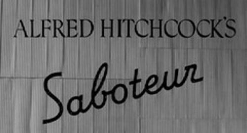 Saboteur Title Treatment