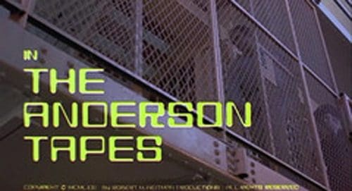 The Anderson Tapes Title Treatment