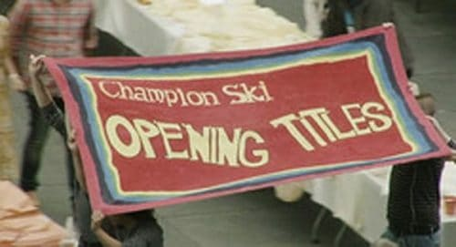 Champion Ski Opening Titles Title Treatment