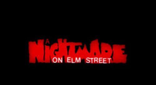 A Nightmare On Elm Street Title Treatment
