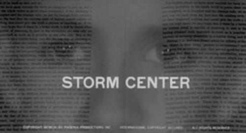 Storm Center Title Treatment