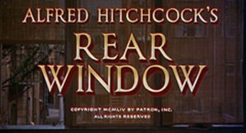 Rear Window Title Treatment