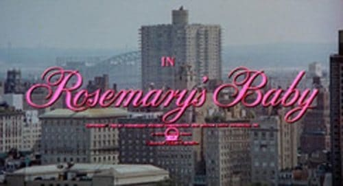 Rosemary's Baby Title Treatment