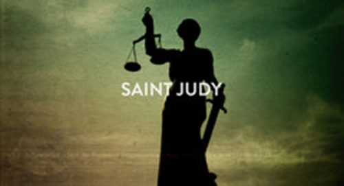 Saint Judy Title Treatment