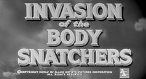 Invasion of the Body Snatchers Title Treatment