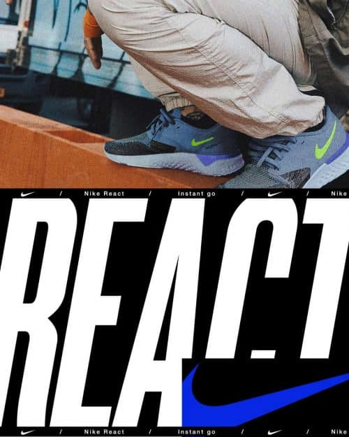 Tran La x Conscious Minds – Nike React IG Typographic Poster Campaign 1 (3)