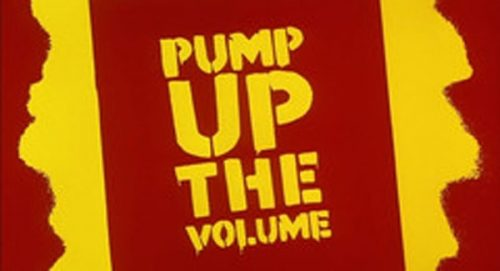 Pump up the volume Title Treatment