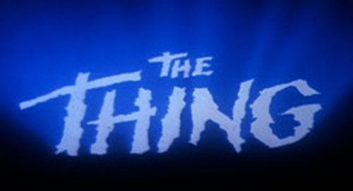 The Thing Original Title Treatment