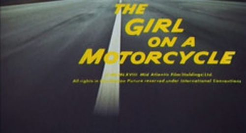 The Girl On a Motorcycle Title Treatment