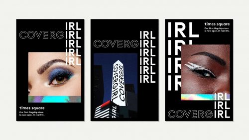 COVERGIRL, IRL poster design animations