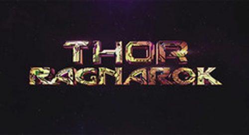 Thor Ragnarok Title Treatment