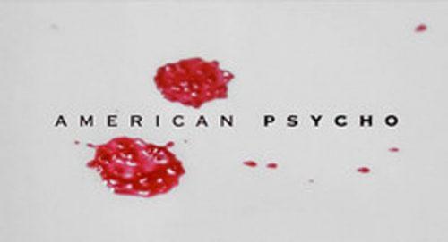 American Psycho Title Treatment