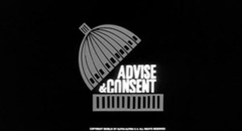 Advise and Consent Title Treatment