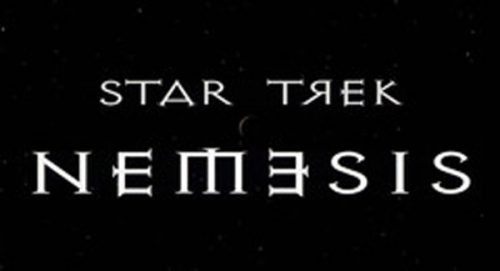 Star Trek Nemesis Title Treatment