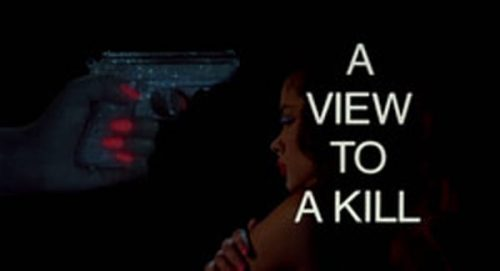 A View to a Kill Title Treatment