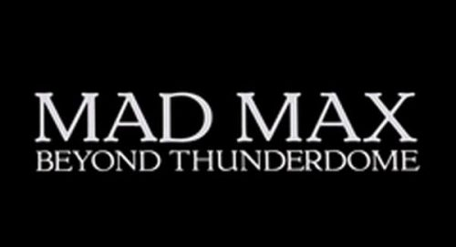 Mad Max Beyond the Thunderdome Title Treatment