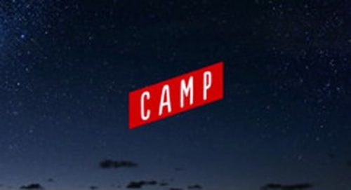 Camp Title Treatment