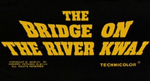 The Bridge On The River Kwai Title Treatment