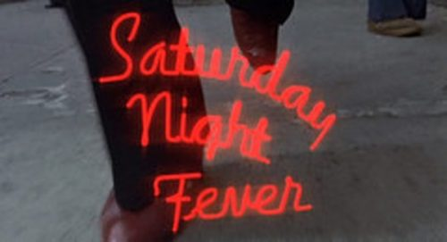 Saturday Night Fever Title Treatment