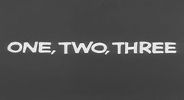 One, Two, Three Title Treatment Title Treatment