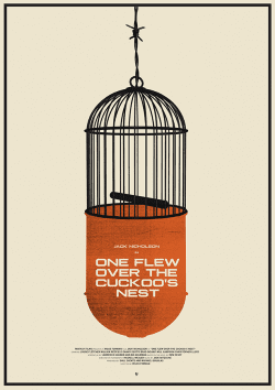 One Flew Over The Cuckoo's Nest Illustrated Poster 001