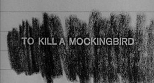 To Kill a Mockingbird Title Treatment