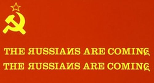 The Russians Are Coming Title Treatment