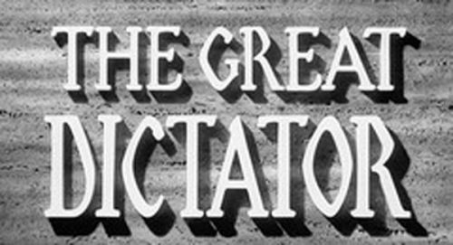 The Great Dictator Title Treatment