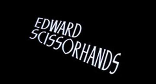 Edward Scissorhands Title Treatment