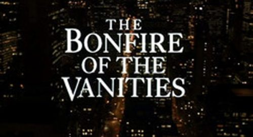 The Bonfire of The Vanities Title Treatment