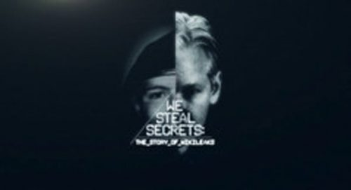 We Steal Secrets Title Treatment