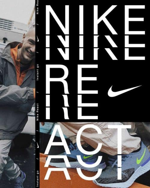 Tran La x Conscious Minds – Nike React IG Typographic Poster Campaign 1 (2)