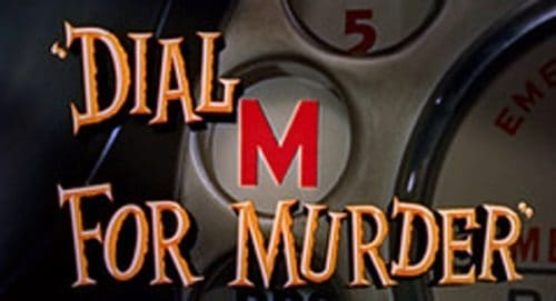 Dial M for Murder Title Treatment