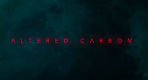 Altered Carbon Title Treatment