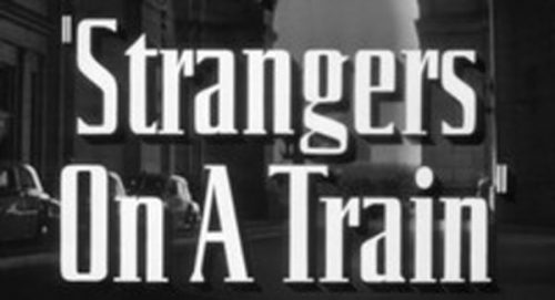 Strangers On A Train Title Treatment
