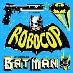 Illustrations by Alejandro Parrilla – 90's Movies – Batman vs Robocop