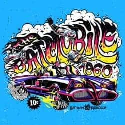Illustrations by Alejandro Parrilla – 90's movies batmobile