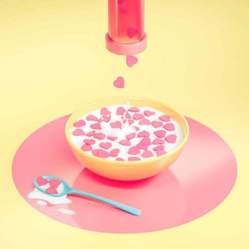 3D Illustrations by Sariselka – Likes Heart Cereal for Breakfast