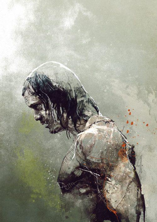 HBO Character Grunge Painting Illustrations – Tarzan