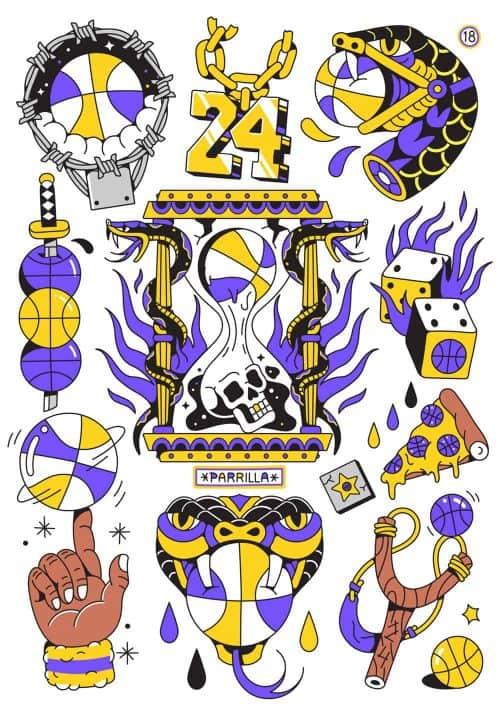 Illustrations by Alejandro Parrilla – Basketball Kobe