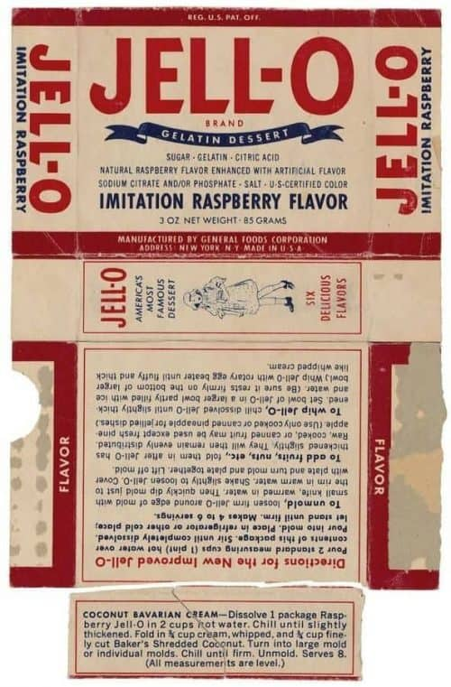 Vintage Jello Gelatin Dessert Box Packaging